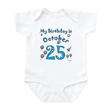 October 25th Birthday Infant Bodysuit