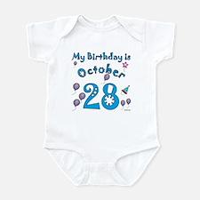 October 28th Birthday Infant Bodysuit