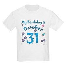 October 31st Birthday T-Shirt