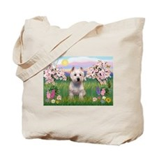 Blossoms & West Highland Terr Tote Bag