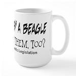 I was bitten by a Beagle Large Mug