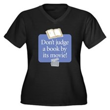 Don't Judge a Book - Women's Plus Size V-Neck Dar
