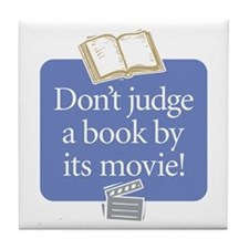 Don't Judge a Book - Tile Coaster