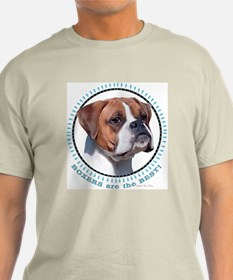 Boxers Are BEST (nat) Ash Grey T-Shirt