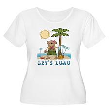 Lets Luau Girl Monkey T-Shirt