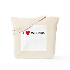 I [Heart] Weenus Tote Bag