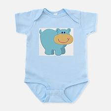 Light Blue Hippo Infant Creeper