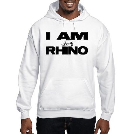 I AM RHINO Hooded Sweatshirt