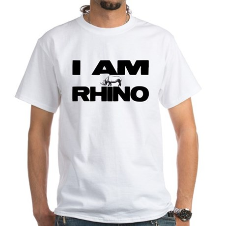 I AM RHINO White T-Shirt