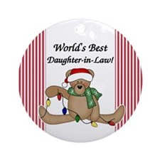 World's Best Daughter-in-Law Ornament (Round)