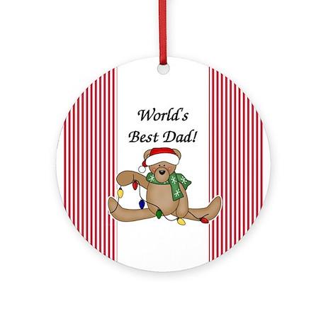 Bear World's Best Dad Ornament (Round)
