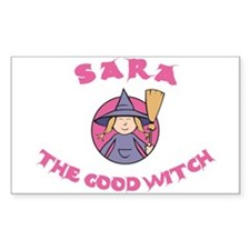 Sara the Good Witch Rectangle Decal