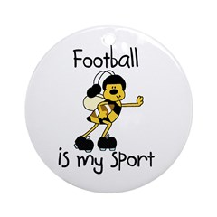 Bumblebee Football Ornament (Round)