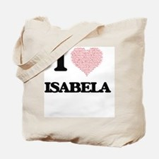 I love Isabela (heart made from words) de Tote Bag