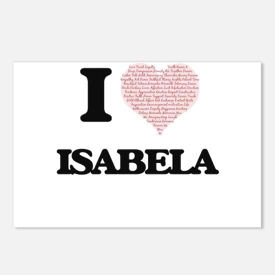 I love Isabela (heart mad Postcards (Package of 8)