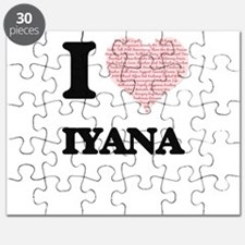 I love Iyana (heart made from words) design Puzzle