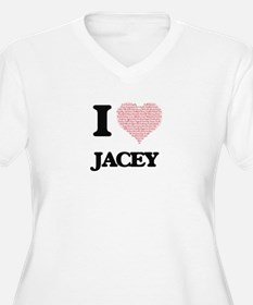I love Jacey (heart made from wo Plus Size T-Shirt