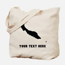 Curacao Silhouette (Custom) Tote Bag