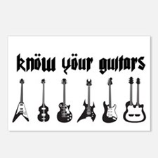 Know Your Guitars Postcards (Package of 8)