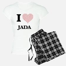 I love Jada (heart made fro Pajamas