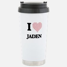 I love Jaden (heart mad Travel Mug