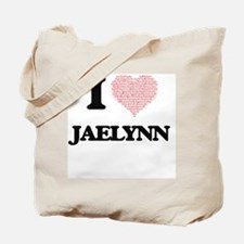 I love Jaelynn (heart made from words) de Tote Bag