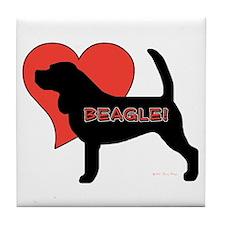 Love Beagles Tile Coaster