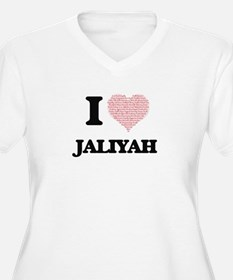 I love Jaliyah (heart made from Plus Size T-Shirt