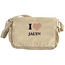 I love Jalyn (heart made from words) Messenger Bag