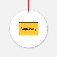 Augsburg Roadmarker, Germany Ornament (Round)
