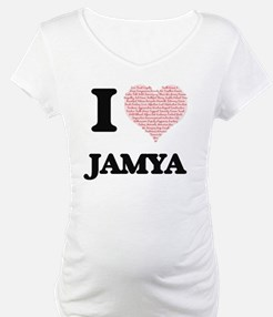 I love Jamya (heart made from wo Shirt