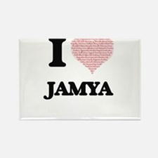 I love Jamya (heart made from words) desig Magnets