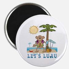Lets Luau Boy Monkey Magnet