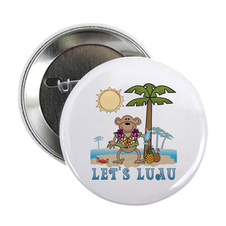 "Lets Luau Boy Monkey 2.25"" Button (10 pack)"