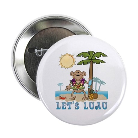 Lets Luau Boy Monkey Button