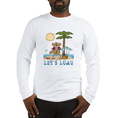 Lets Luau Boy Monkey Long Sleeve T-Shirt