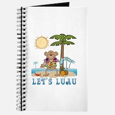 Lets Luau Boy Monkey Journal
