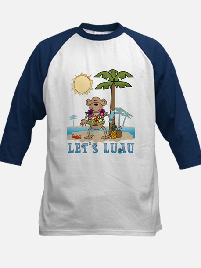 Lets Luau Boy Monkey Kids Baseball Jersey