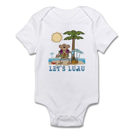 Lets Luau Boy Monkey Infant Bodysuit