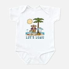 Lets Luau Boy Monkey Infant Bodysuit
