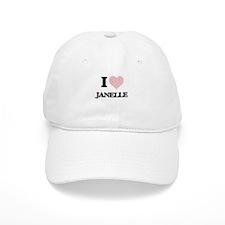 I love Janelle (heart made from words) design Baseball Cap