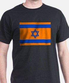 Orange Israeli Flag T-Shirt