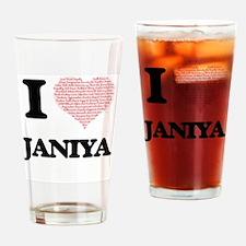 I love Janiya (heart made from word Drinking Glass