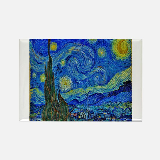 Van Gogh Starry Night Extra Color Magnets
