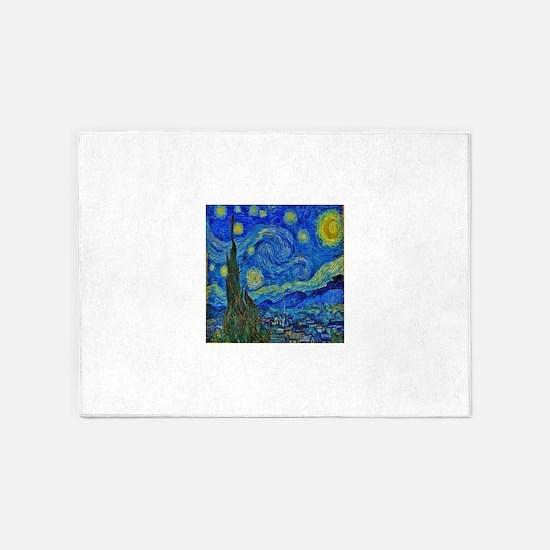 Van Gogh Starry Night Extra Color 5'x7'Area Rug
