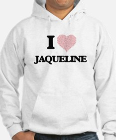 I love Jaqueline (heart made fro Hoodie