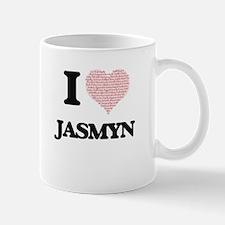 I love Jasmyn (heart made from words) design Mugs