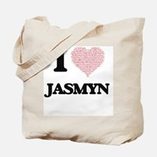 I love Jasmyn (heart made from words) des Tote Bag