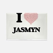 I love Jasmyn (heart made from words) desi Magnets