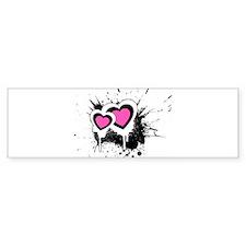 Exploding hearts Bumper Bumper Sticker